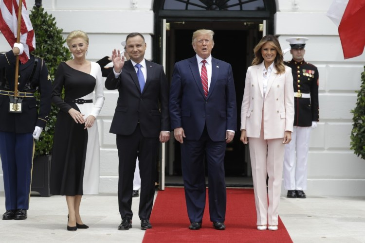 What Melania Wore Welcoming Polish President To The White House