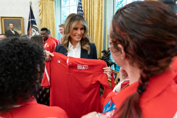 What Melania Wore Welcoming Members of U.S. Special Olympics to the WH
