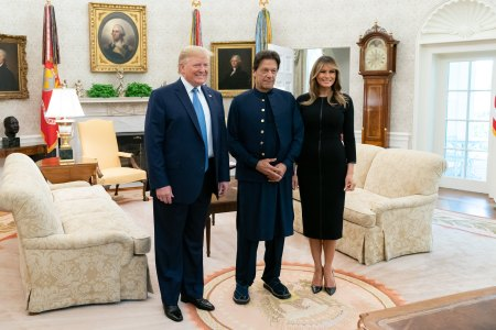 What Melania Wore Welcoming Pakistan Prime To The White House