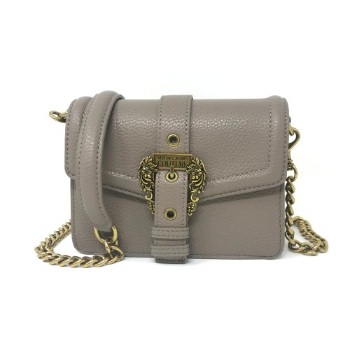 borsa a tracolla grana pu buckle taupe versace jeans couture 01