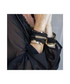 bracciale bronzo cordoni in tessuto black 02