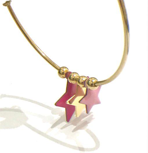 cerchi stelline fuxia rosa Nuage d'etoiles 02