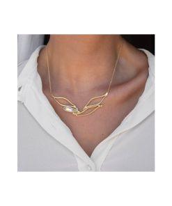 collana bronzo e cristallo swarovski irridescenti b 02