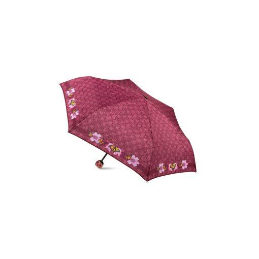 ombrello mini Ilary bordeaux logo farfalle braccialini 01