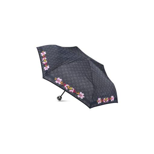 ombrello mini Ilary nero logo farfalle braccialini 01