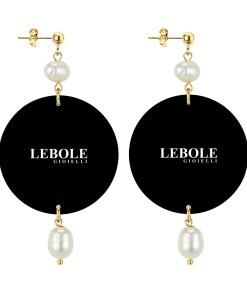 orecchini the circle putti pietra perla retro in lebole