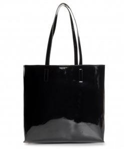 shopper paten pu basic nero lucido versace jeans couture 02