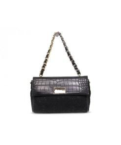 small flap bag ilenia lace black ermanno scervino 01