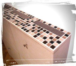Meuble à chaussures SANDNES de chez IKEA relooking zoom mosaïque monblabladefille.com