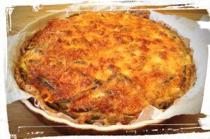 photo du résultat de la tarte salée maison aux haricots verts monblabladefille.com