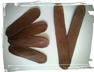 Découpe bande de cuir pour sac en cuir de style Gérard darel tuto home made monblabladefille.com