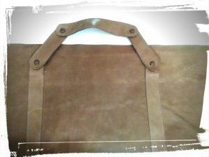 Poignée du sac en cuir de style Gérard darel tuto home made monblabladefille.com