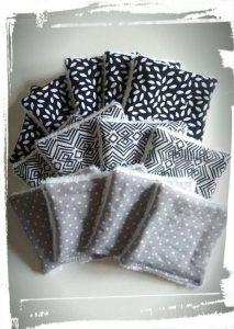 Photo tuto cotons démaquillants réutilisables monblabladefille.com epingles diy couture résultat gris