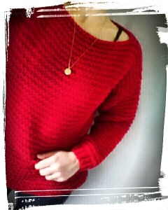 Pull doudou doudou fait main hand made rouge drops andes monblabladefille.com