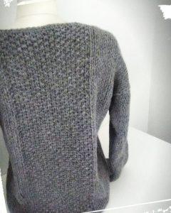 Realisation pull douillet laine drops andes diy hand made gris monblabladefille