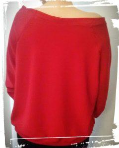 Résultat du test du patron sweat loose de be made couture hand made diy rouge monblabladefille.com