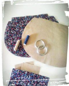 Élément pour réalisation sac besace en cuir porté épaule patron hand made cousu main monblabladefille.com