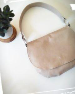 Réalisation sac besace en cuir porté épaule patron hand made cousu main monblabladefille.com