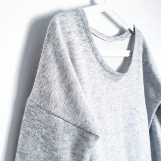 Réalisation sweat loose en jersey Gilou patron et notice de montage couture mespatronsdefille monblabladefille.com
