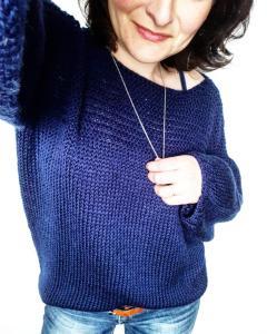 Photo patron du pull Stéphanie tricot fiche technique patron mespatronsdefille monblabladefille.com