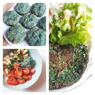 Recette galette végétale bowl et biscuit avoine et spiruline monblabladefille.com