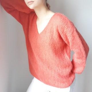 Patron tuto de tricot fiche technique notice explicative diy sur la réalisation du pull Victoire mespatronsdefille makerist monblabladefille.com