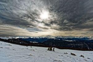 Nuages et lumières sur les Pyrénées