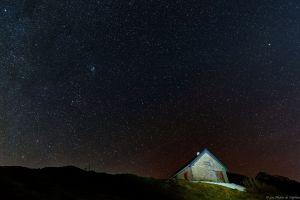 Nuit autour de la cabane du Clot du Lac