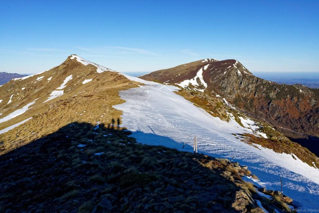 Le mont Fourcat en montant vers le pic de l'Estagnole