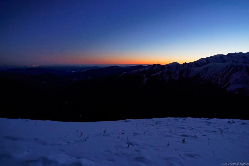 Nuit magique à la cabane de Lasplanous avec le lever de soleil t