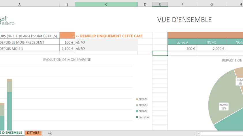 Tracker 18 Mois Mon Budget Bento Excel