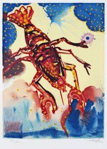 Salvador Dali ; ses peintures des signes du zodiaque : Signe lunaire, il signifie le retrait sur soi, la sensibilité, la timidité et la ténacité. (seins, estomac, membranes protectrices)
