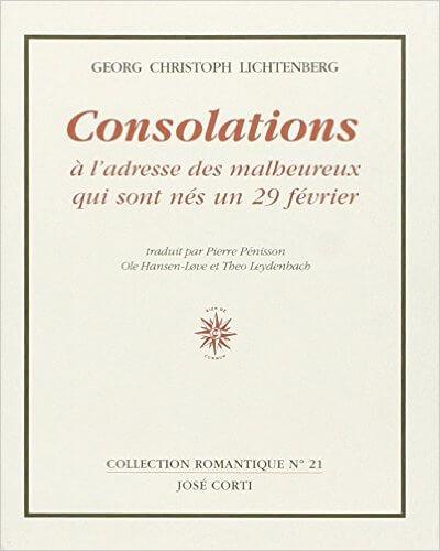 """Pour accompagner l'article """"La peur de vieillir"""" un livre de Georg Christoph Lichtenberg"""