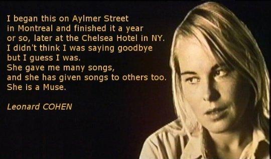 Muse de Leonard Cohen : lettre d'adieu