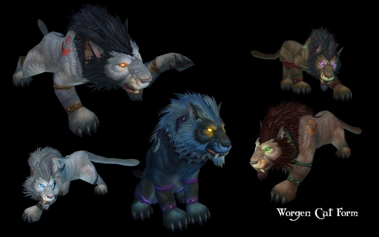 Troll & Worgen , Druid Forms ( Cat And Bear )