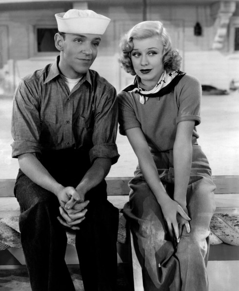 Fred Astaire et Ginger Rogers dans En suivant la flotte (Follow the Fleet) de Mark Sandrich (1936)