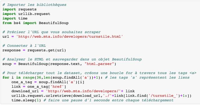 web scraping - Code complet de scraping