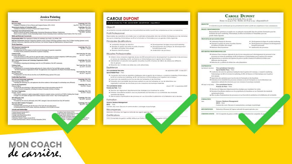 Exemples de CV parfaits