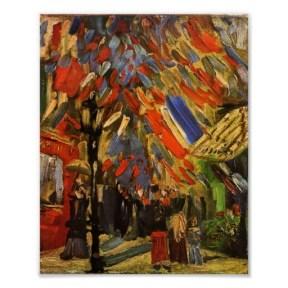 Van Gogh célébration du 14 juillet à Paris Quatorzième de la célébration de juillet à Paris, Vincent van Gogh, été 1886 de Paris