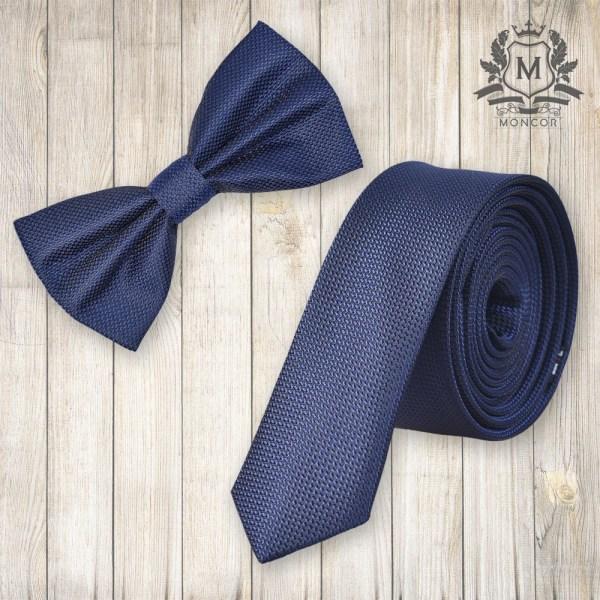 Falcon's-Mazzoli tengerkék nyakkendő szett