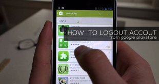 Logout Google Playstore Account