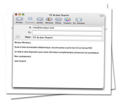 Envoyer Son Cv Avec Apple Mail Moncv Com