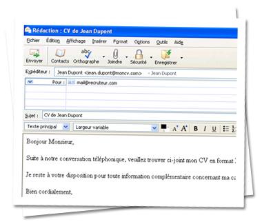 Envoi De Cv Par Mail Objet