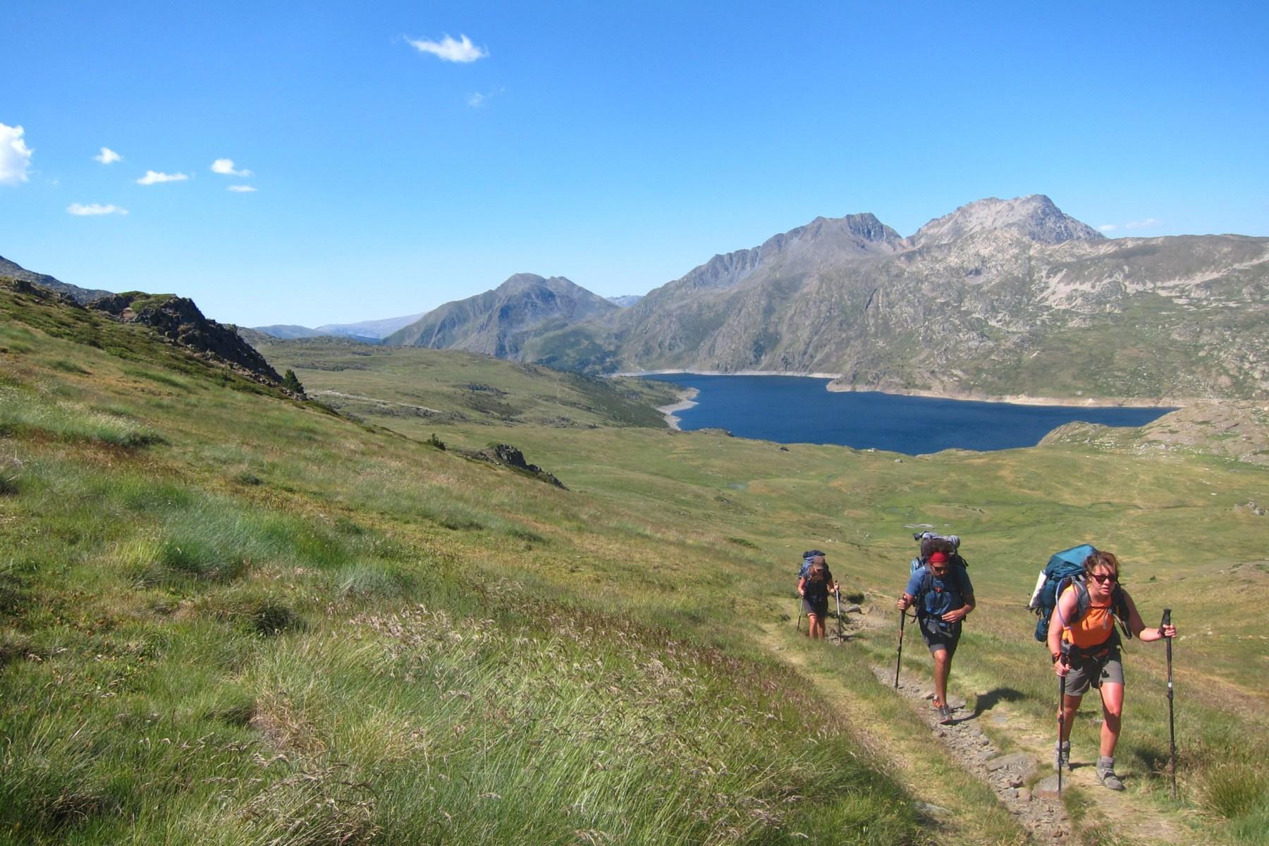 Trek sur le Gr10 lors de la traversée des Pyrénées-Orientales