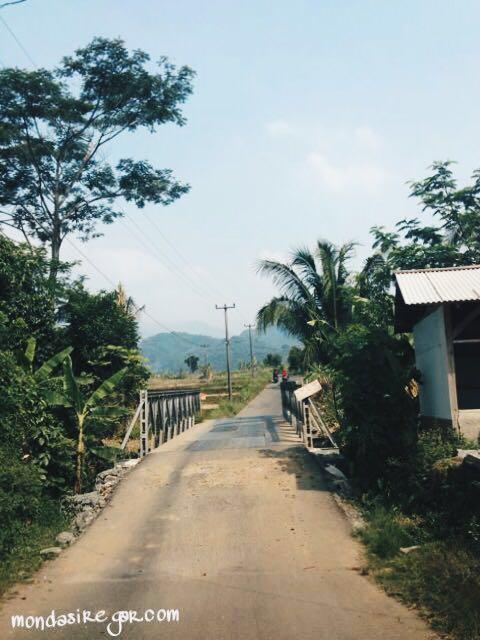 Jalan desa Cariu
