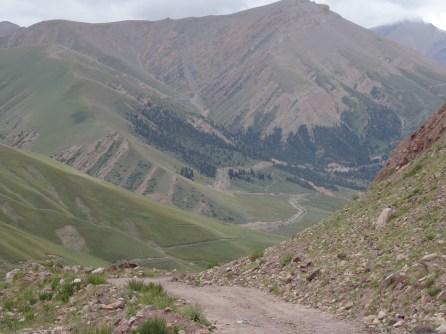 Climbing thousands of feet up switchbacks above Karakeche