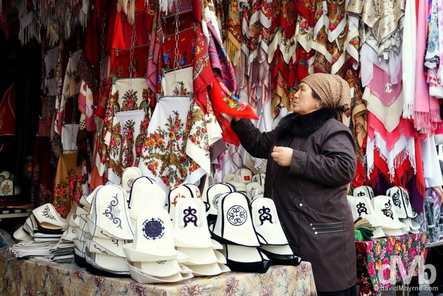 Bazaar Osh Ak Kalpak Kyrgyz Hats