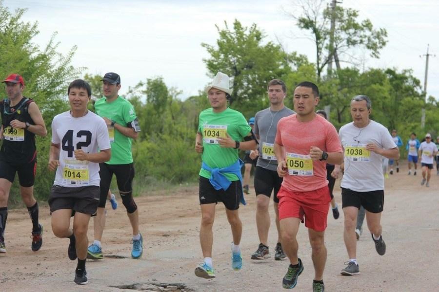 Runner Wearing Ak Kalpak Kyrgyz Hat