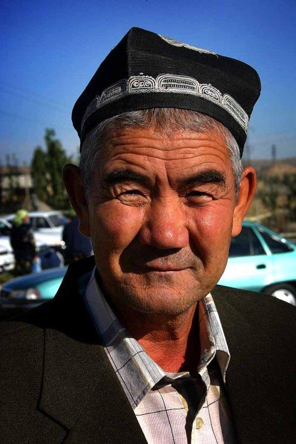 Uzbek Man Wearing Duppi