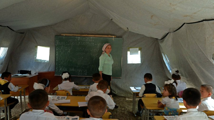 Chong Alay Earthquake Tent School